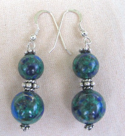 Chrysocolla and Bali Sterling Silver
