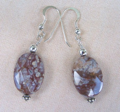Faceted Ocean Jasper and Sterling Silver