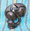 "Shona Black Serpentine ""Elephant on One Foot"" Sculpture"